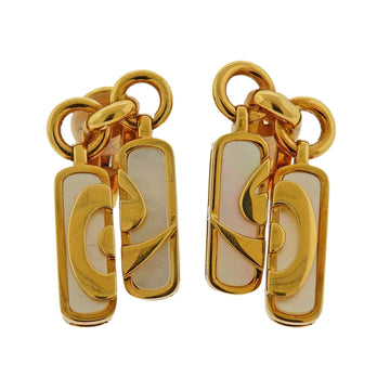 Bulgari Optical Illusion Mother of Pearl Gold Earrings