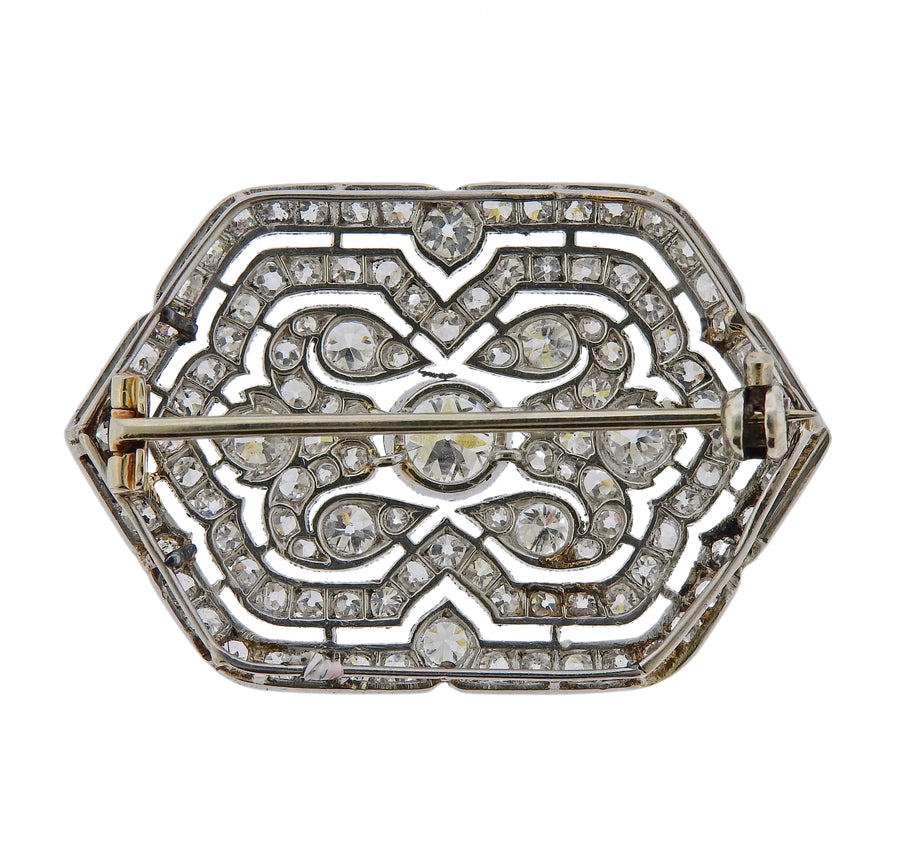 Cartier Art Deco 1920s Diamond Platinum Brooch