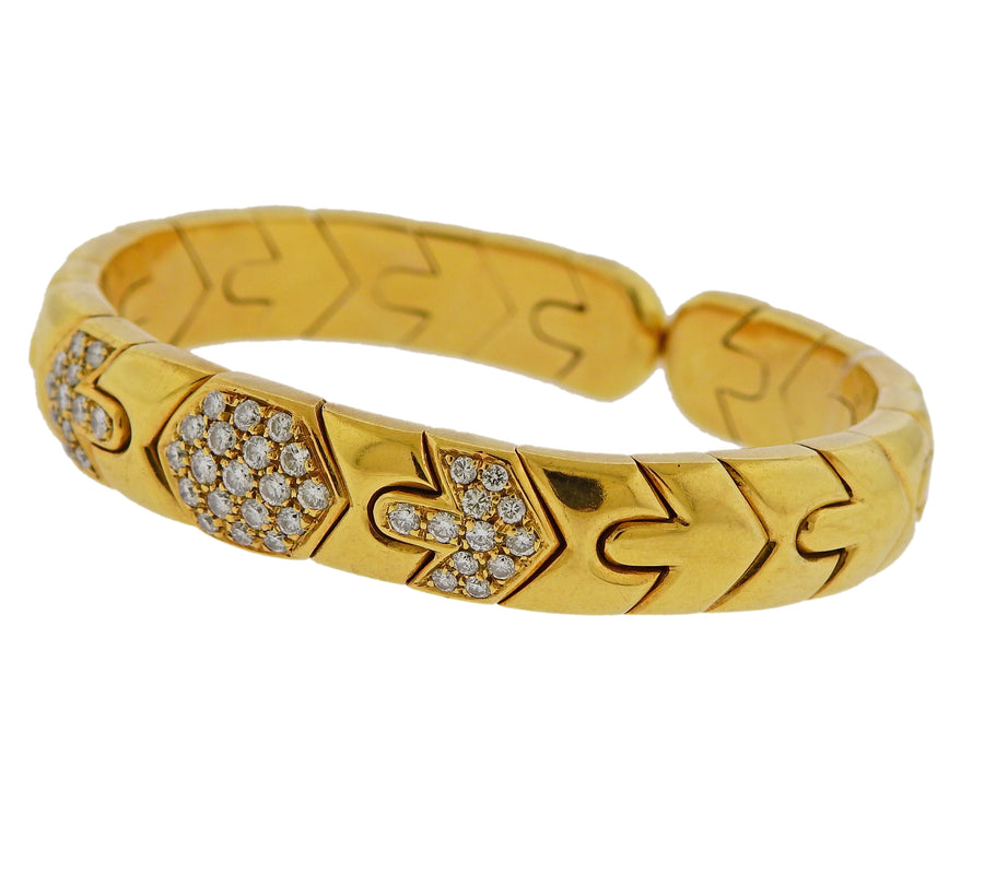 Bulgari Gold Diamond Bracelet