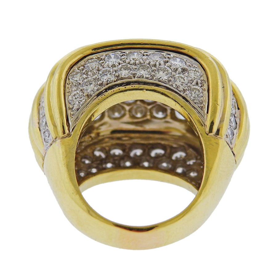 David Webb Diamond Gold Cocktail Ring