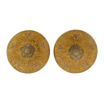 Buccellati Two Tone Gold Button Earrings