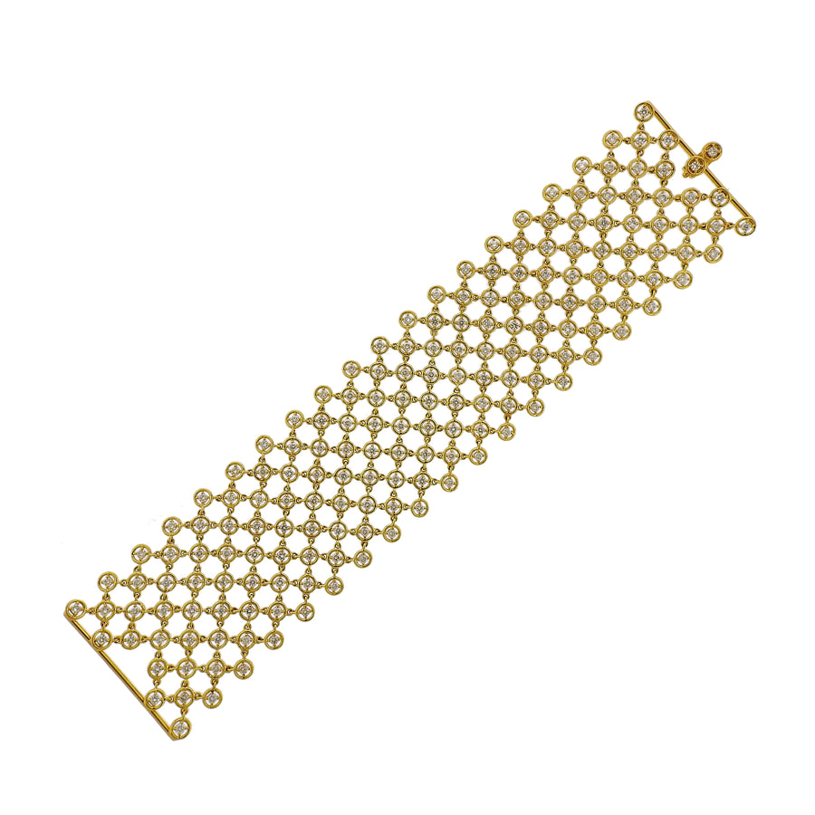 Diamond Gold Mesh Bracelet