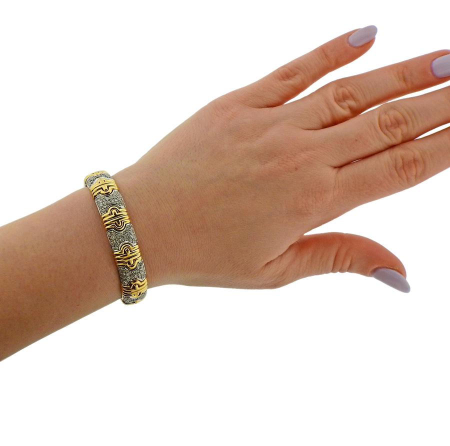 Diamond Gold Flexible Bracelet