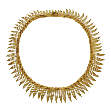 Honora Gold Feather Motif Necklace