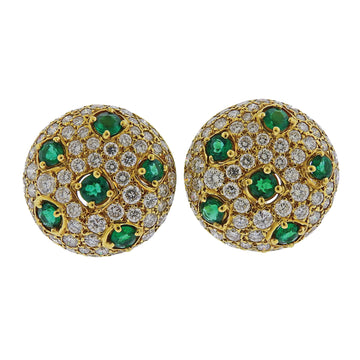 Gem Lok Emerald Diamond Gold Earrings