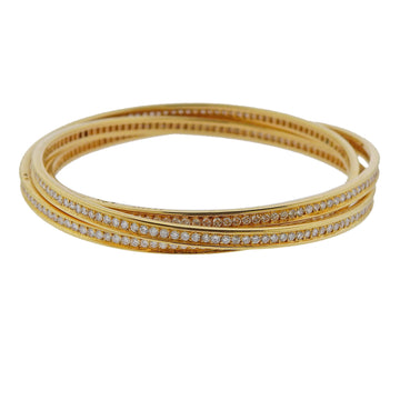 Cartier Trinity Diamond Gold Rolling Bangle Bracelet