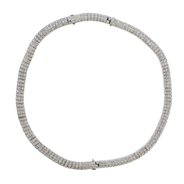 Diamond Platinum Bracelet Necklace Suite