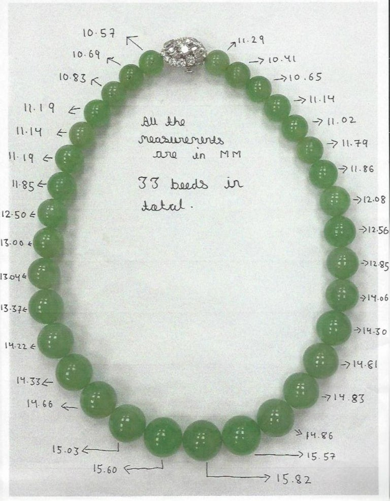 Bvlgari, Very important Large Natural Jade Jadeite and Diamond Necklace