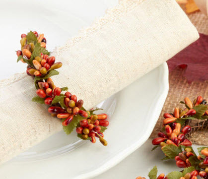 Berry Napkin Ring, Set of 6