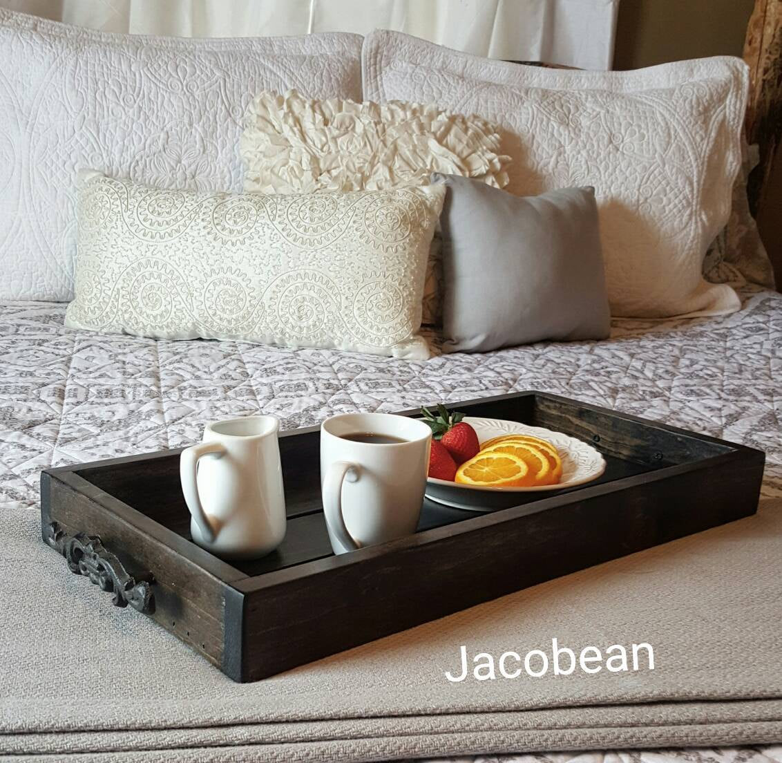 12 x 24 Magazine Tray - Coffee Table Tray - Rustic wooden ottoman tray - decorative tray - coffee table tray - farmhouse decor - wooden tray