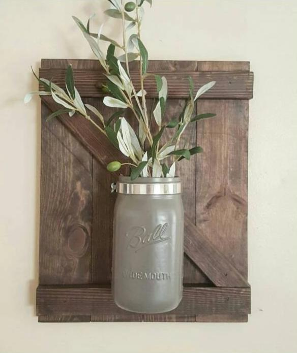 Wall Sconce - Single Wall Sconce - Wall Decor - Farmhouse Decor - Mason Jar Wall Sconce - Farmhouse Home Decor