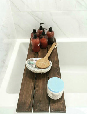 Bath Caddy - Bathtub Tray - Bath Tray - Bath Shelf - Bathroom Decor - Bath Storage - Farmhouse Bath - Farmhouse Bathroom