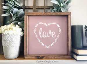 Love Sign - Wedding Gift - Wedding Decor - Valentines Day Decor - Valentines Decor - Farmhouse decor - Wood Sign - Nursery Sign