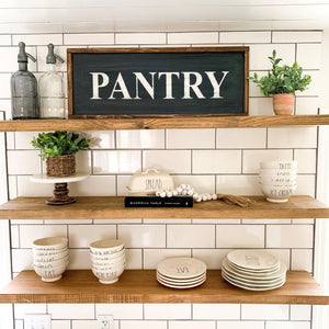 Pantry Sign 12x30 - Kitchen Pantry Sign - Farmhouse Decor, Kitchen Sign, Wood Pantry Sign, Pantry Sign, Kitchen Wall Decor, Rustic Wood Sign
