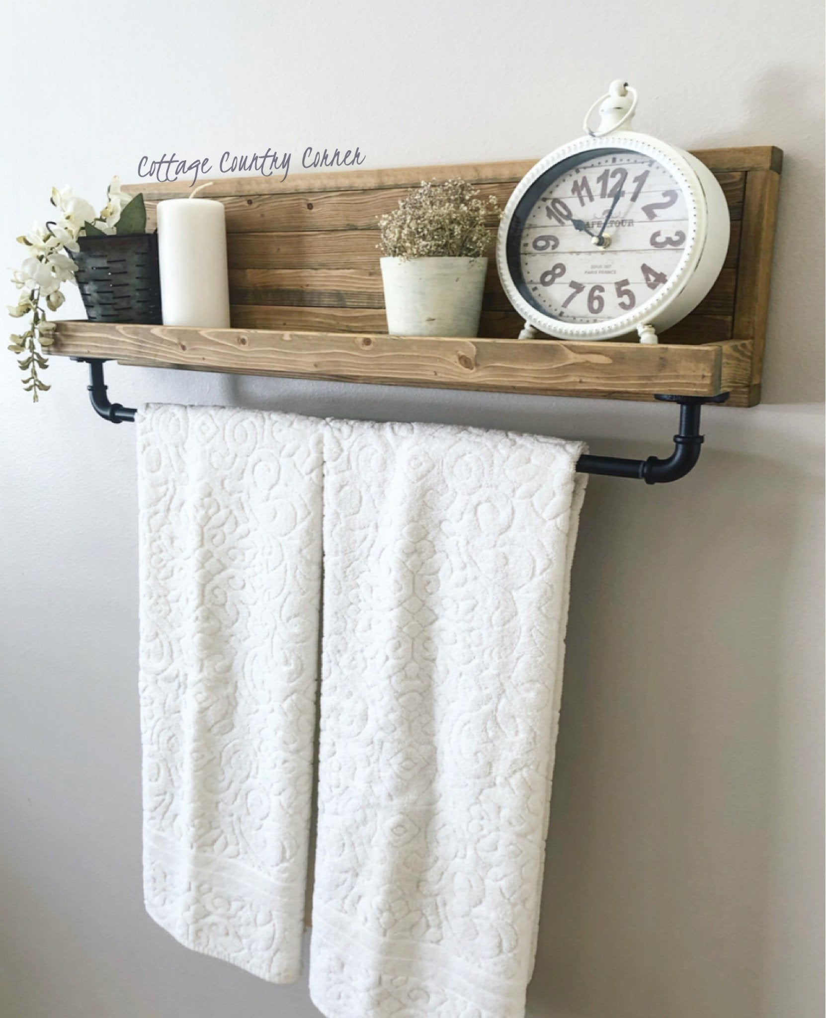 Large Towel Holder, Towel Rack, Bathroom Decor, Towel Rack, Farmhouse Bathroom, Towel Hook, Kitchen Towel Holder Industrial