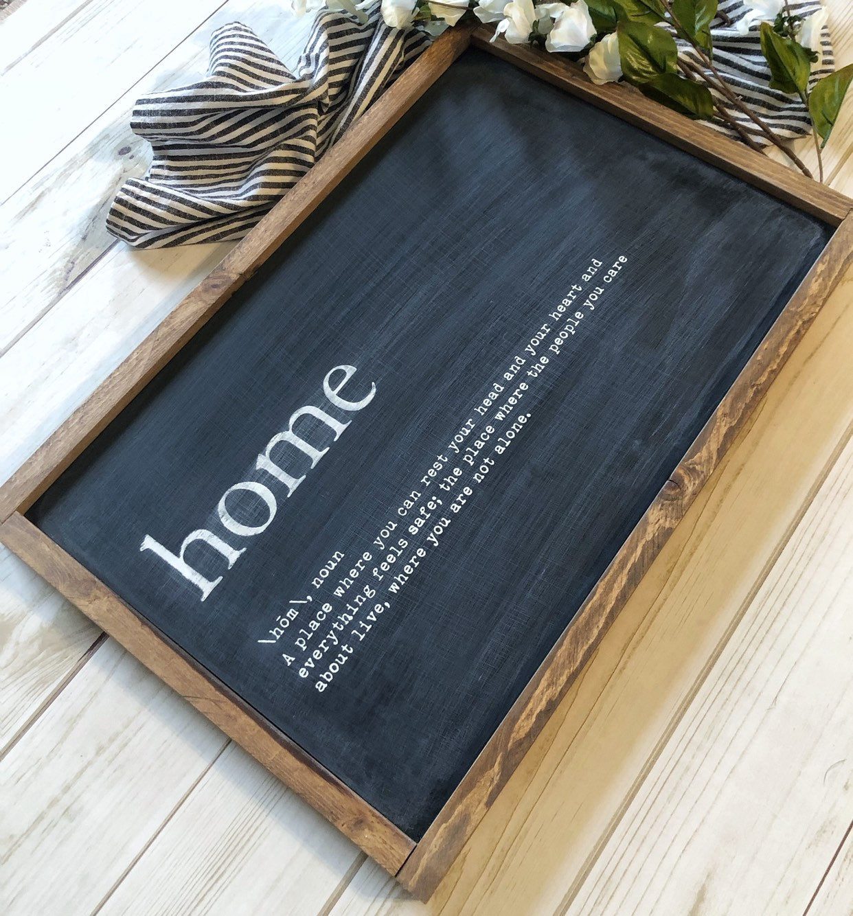 Home Sign - Home Definition Sign - Home Wood Sign - Home Quote sign | Living Room Wall Decor | Entryway Wood Sign