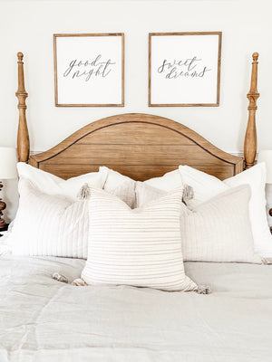 Good Night Sign - Sweet Dreams Sign - Good Night Sweet Dreams Sign Set - Bedroom Signs - Nursery Signs - Farmhouse Signs