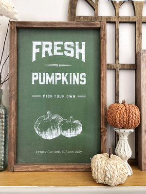 Fresh Pumpkins Sign - Fall Sign - Farmhouse Fall sign - Fall Decor - Farmhouse decor - Wall Decor - farmhouse kitchen - farmhouse kitchen de