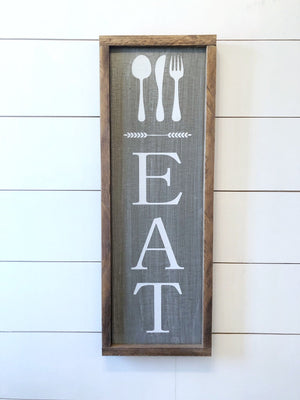Eat sign - Eat sign for kitchen - Eat letters - Eat sign wood - farmhouse eat sign - farmhouse kitchen decor - farmhouse sign - home decor