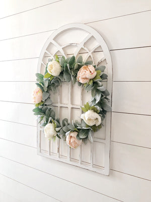 Lambs Ear Wreath, Peony Wreath, Spring Wreath, Front Door Wreaths, Wreaths, Spring Wreaths for Front Door, Spring Peony Wreaths, Spring Wrea