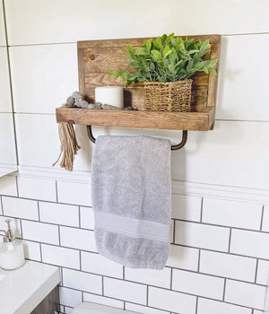 Medium Hand Towel Rack Shelf