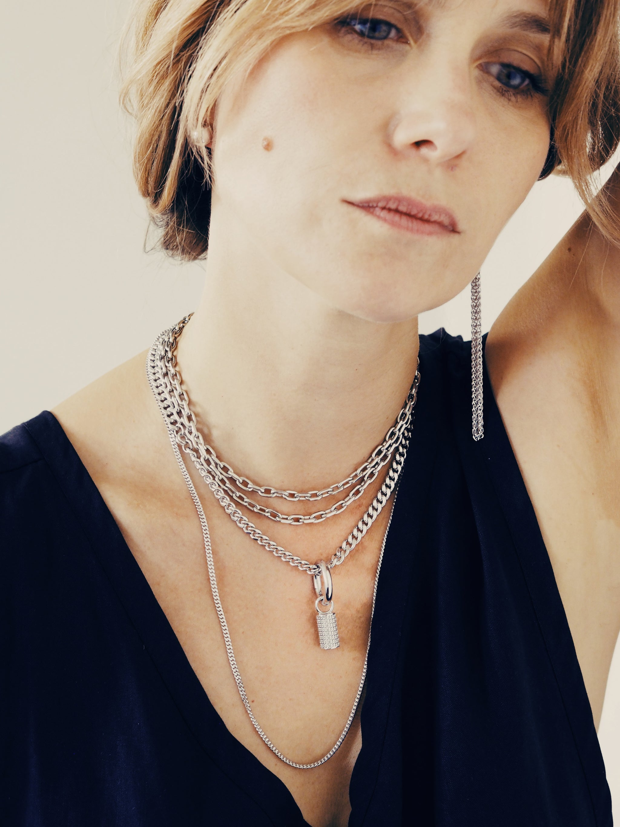 BONNIE necklace - Rhodium