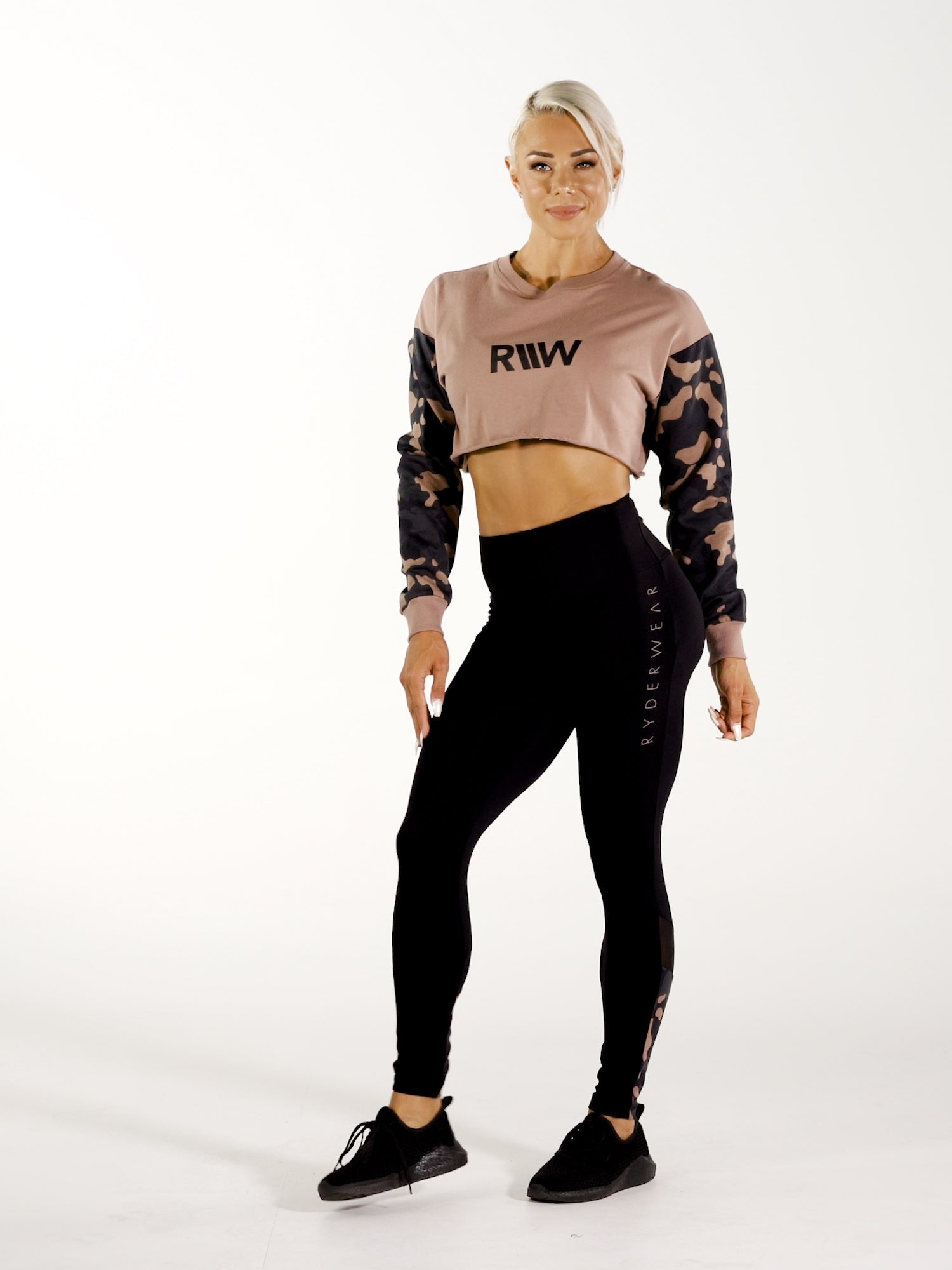 Camo Crop Sweater  video