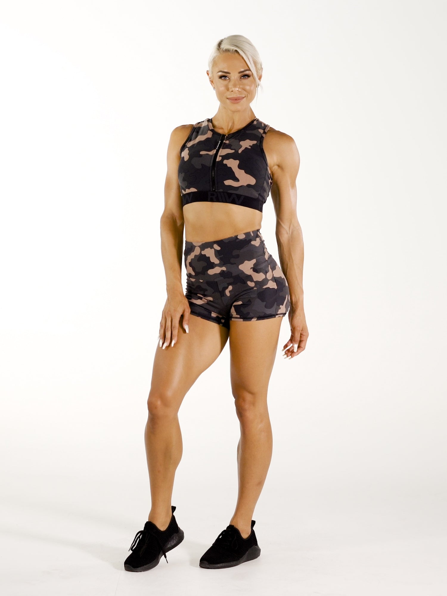Camo Zip Up Sports Bra  video