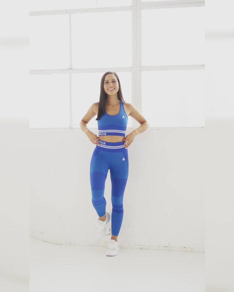 Freestyle Seamless High Waisted Leggings - Blue
