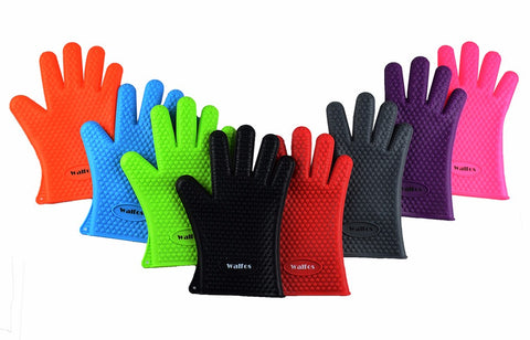 Heat Resistant Silicone Cooking Gloves - FREE SHIPPING!