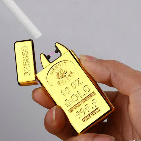 Gold Bars Electric Pulse Lighter