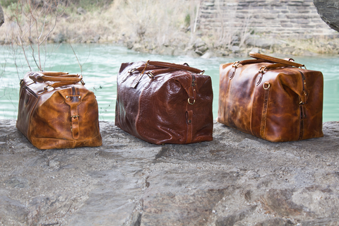 Leather Collingwood Weekend Travel Bags
