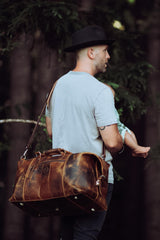 Leather Hunter Light Travel Bag - Aurelius Leather
