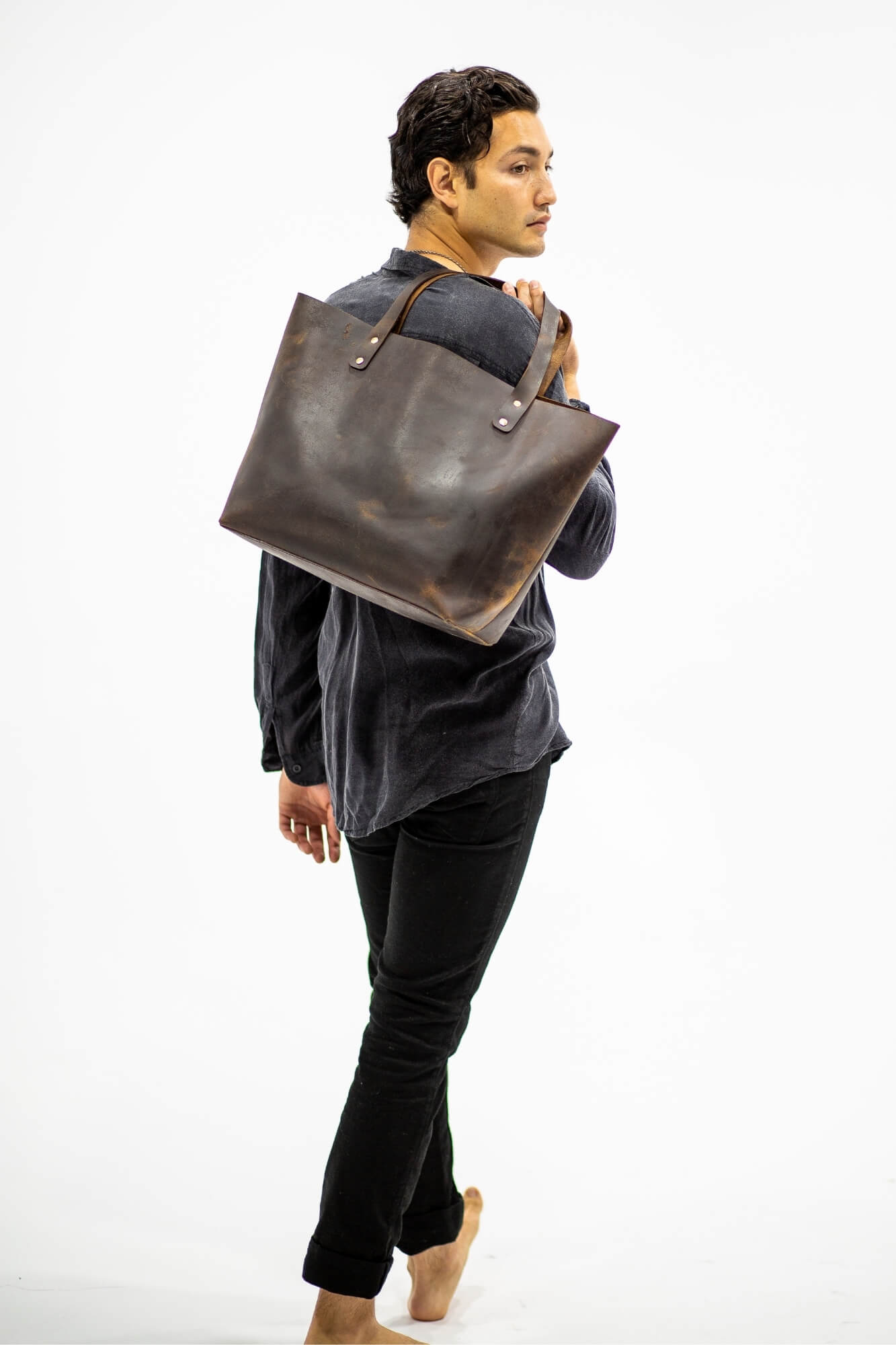 Chester Leather Tote mini - Aurelius Leather