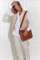 Leather Bag Dallas Messenger - Aurelius Leather