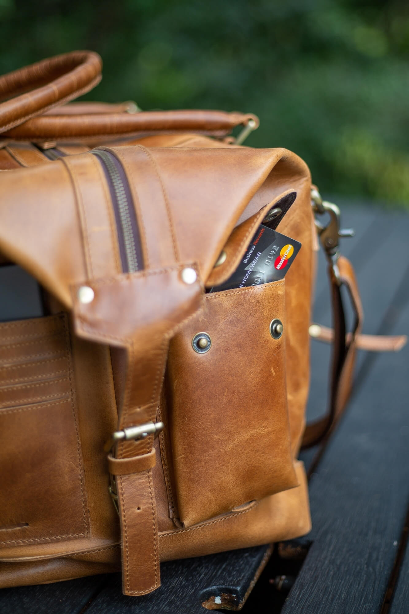 Cali Light tan Travel leather bag - Aurelius Leather