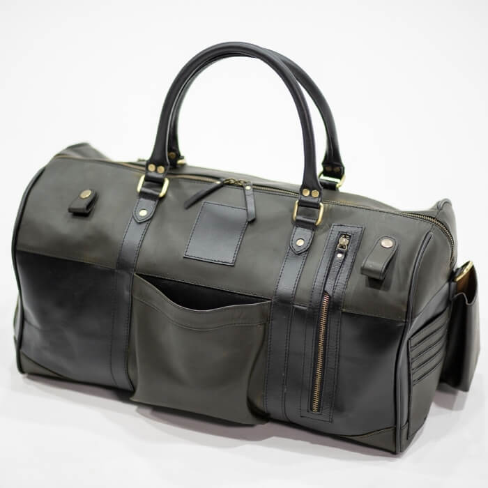 Leather Hendrix Gym Bag - Aurelius Leather