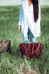 Kalindi Leather Tote Bag - Aurelius Leather