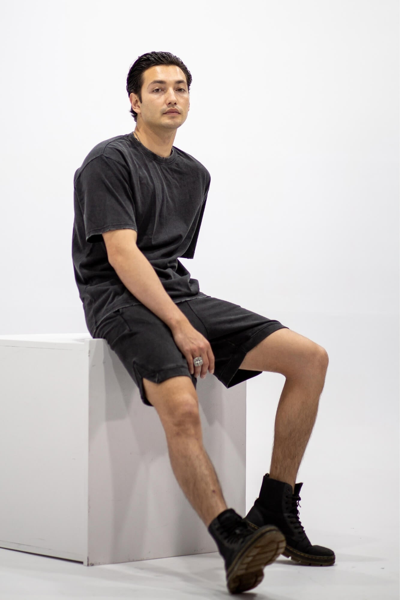 Aurelius Jagger Black Short Tee - Aurelius Leather