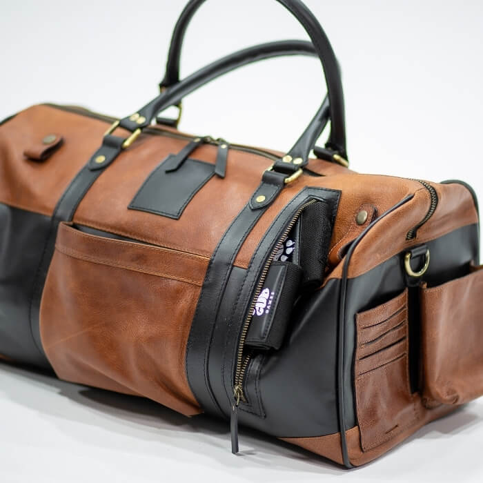 Leather Kana Overnight Bag - Aurelius Leather