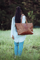 Kelki Light Tan Leather Tote Bag - Aurelius Leather