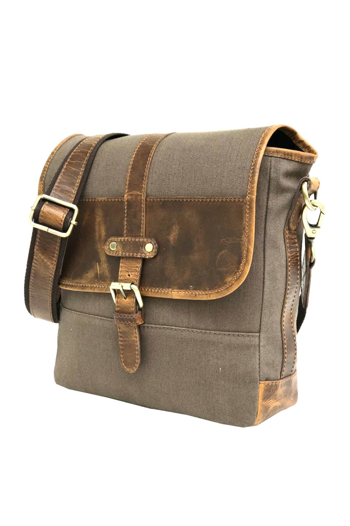 Leather Harry Messenger Bag - Aurelius Leather