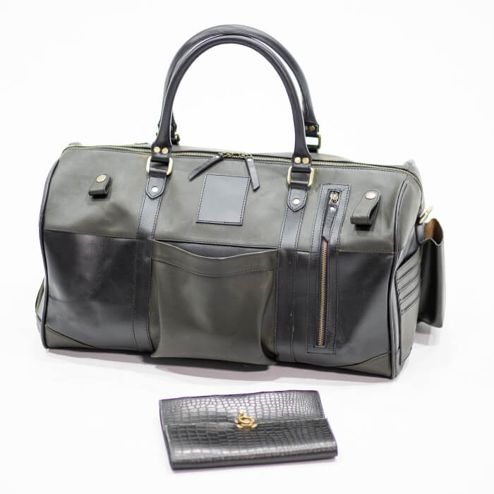 Leather Hendrix Overnight Bag - Aurelius Leather
