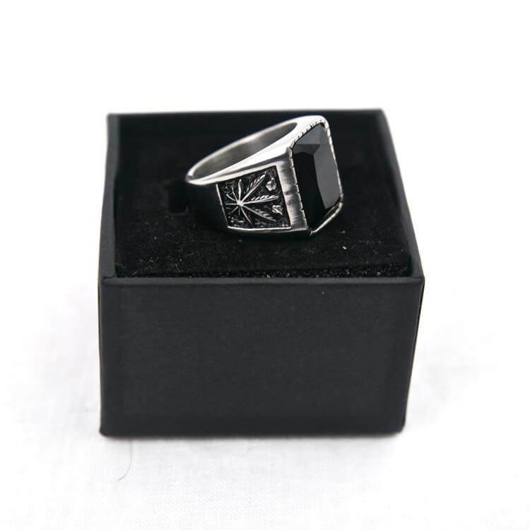 U - Billie Ring Silver - Aurelius Leather