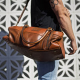 Leather Francis Overnight Bag - Aurelius Leather