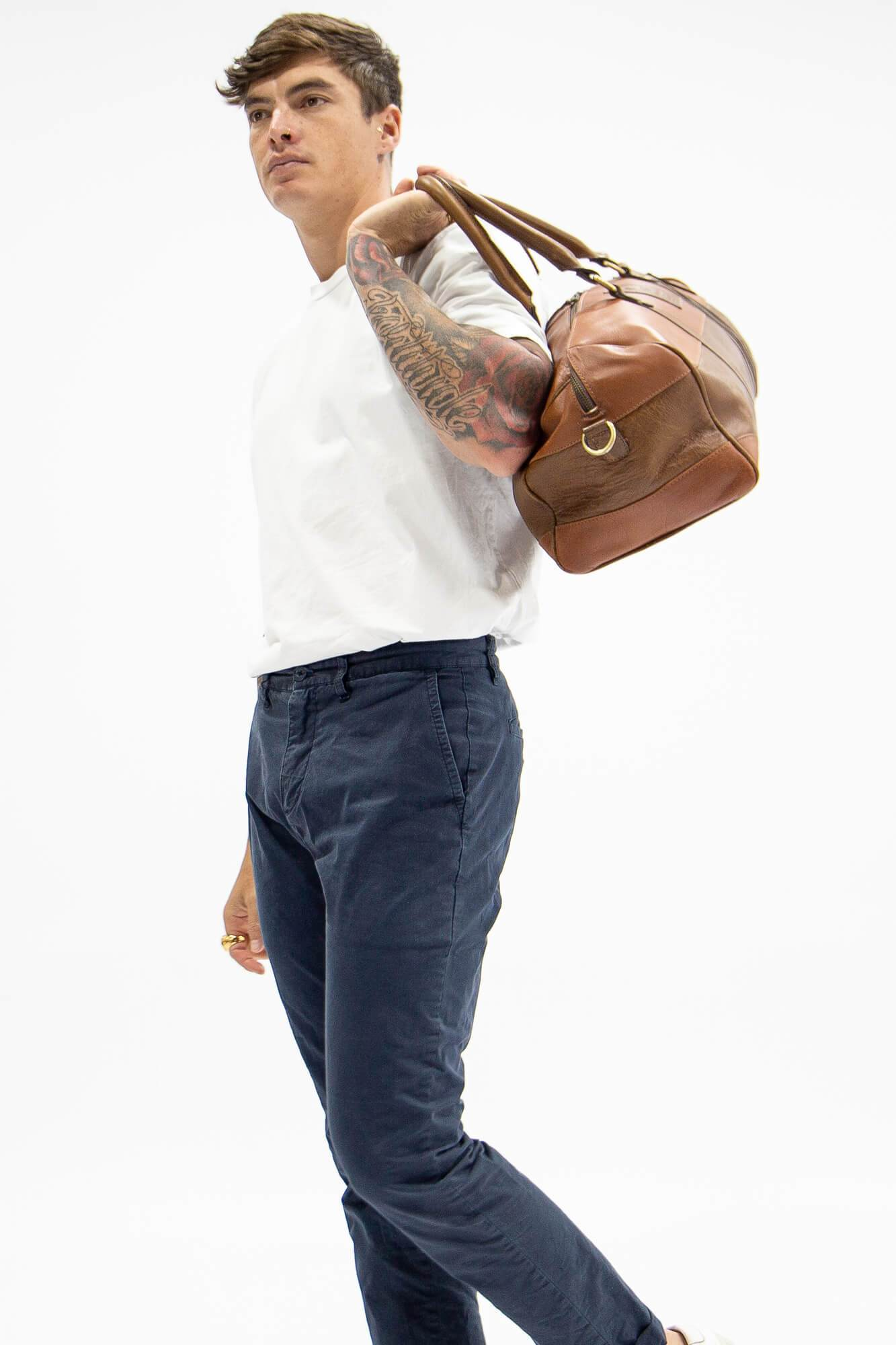 Leather Francis Overnight Bag