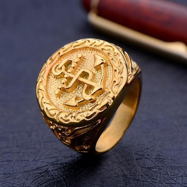 U - Sink or Swim Gold Ring - Aurelius Leather