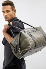 Maddox Overnight Travel Leather bag - Aurelius Leather