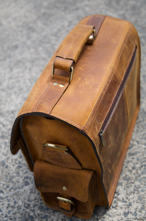 Leather Hector Camera Bag - Aurelius Leather
