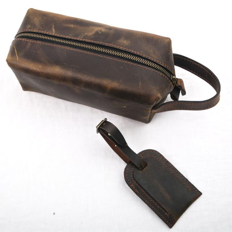 Luggage Tag Tan - Aurelius Leather